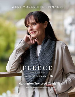 Harlington Textured Cowls in West Yorkshire Spinners Bluefaced Leicester DK - DBP0179 - Downloadable PDF