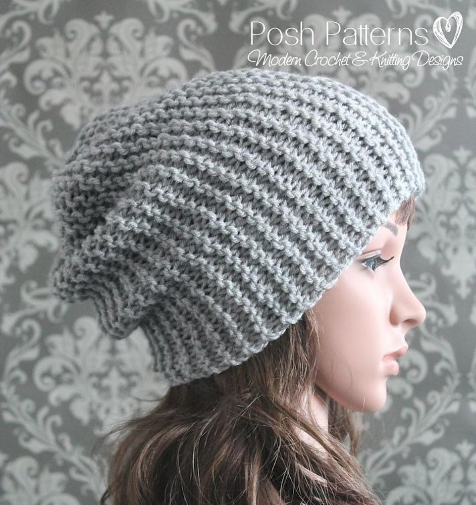 Easy Slouchy Hat Knitting Pattern 314 Knitting Pattern By