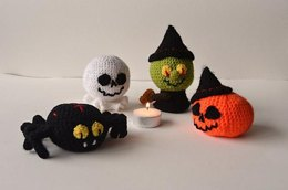 Halloween Crochet Pattern, Halloween Amigurumi, Ghost Crochet Pattern, Witch Crochet Pattern, Pumpkin Crochet Pattern, Spider Crochet Pattern, Jack O Lantern Crochet Pattern