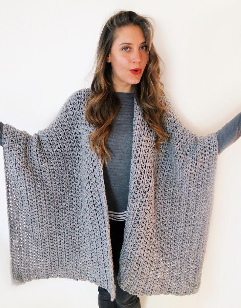 Blanket Ruana Poncho Crochet Pattern By Two Of Wands