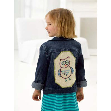 Who's Cool Applique Patch in Lion Brand Fishermen's Wool - L32130