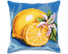 Collection D'Art Lemon Cross Stitch Cushion Kit