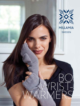 Bo Wristwarmers in MillaMia Naturally Soft Merino - Downloadable PDF