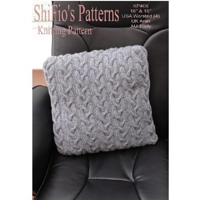 Highland Cable Cushion Knitting Pattern Uk Usa Terms 406