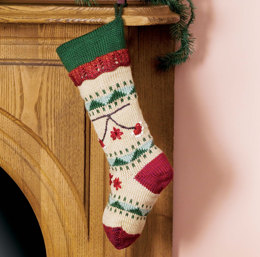 Folkways Christmas Stocking in Caron Simply Soft - Downloadable PDF