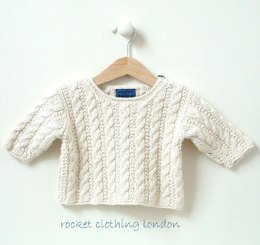 0-4 months 4-8 months ' Mini Cable sweater'