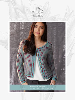 """Eleanor Cardigan"" - Cardigan Knitting Pattern For Women in Willow and Lark Nest-6"
