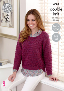 Sweater & Cardigan in King Cole Panache - 4684 - Leaflet