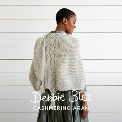 """Sami"" - Shawl Knitting Pattern For Women in Debbie Bliss Cashmerino Aran by Debbie Bliss in Debbie Bliss - DB325"