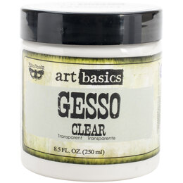 Prima Marketing Finnabair Art Basics Gesso 8.5oz Jar - Clear