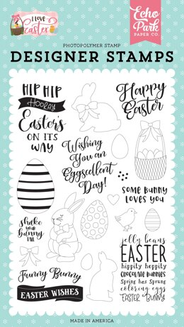 Echo Park Paper Echo Park Stamps - Funny Bunny, I Love Easter