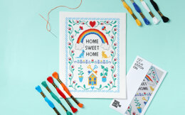 Wool and the Gang Home Sweet Home Cross Stitch Kit - 16cm x 23cm