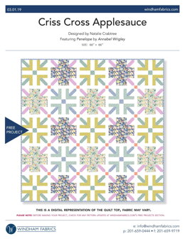 Windham Fabrics Criss Cross Applesauce - Downloadable PDF