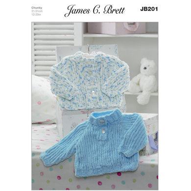 Cardigan and Sweater in James C. Breet Flutterby Chunky - JB201