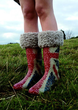 Furry Welly Toppers in Erika Knight Fur Wool