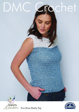 Two-Tone Shelly Top in Natura Linen in DMC - 15472L/2 - Leaflet