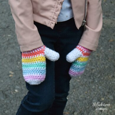 Color Block Mittens