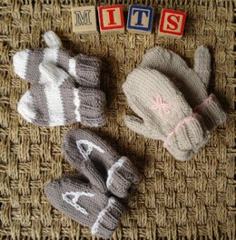 Easy baby and toddler mittens