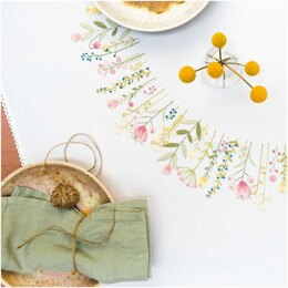 Rico Spring Wreath Embroidery Tablecloth Kit