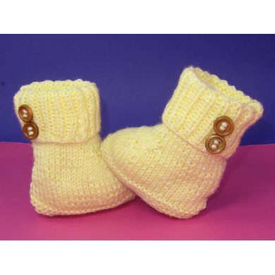 Easy Baby 2 Button Booties