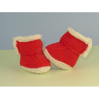 Baby 2 Colour Simple Trim Booties