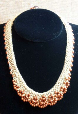Scallop Edge Beaded Necklace with variations