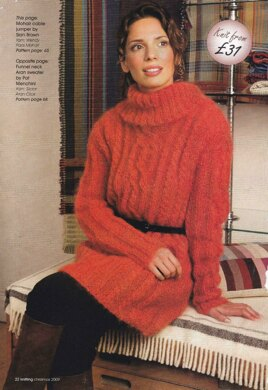 29d1263a89f7 Mohair Cable Jumper Knitting pattern by Sian Brown