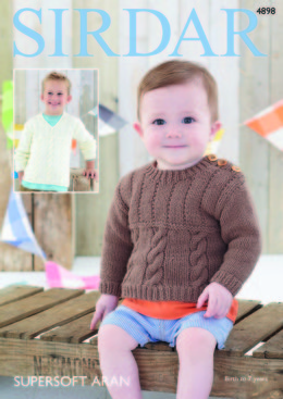 Sweaters in Sirdar Supersoft Aran - 4898 - Downloadable PDF