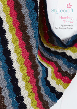 Humbug Throw in Stylecraft Special DK - Downloadable PDF