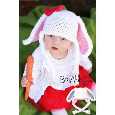 Furry Bunny Hat Pattern (US TERMS)