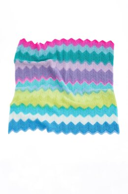 Chevron Baby Afghan in Lion Brand Mandala Baby - Downloadable PDF