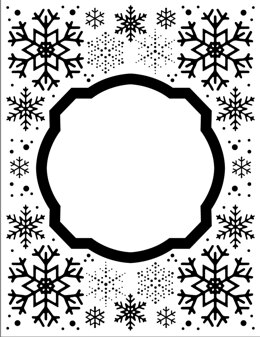 """Creative Expressions Embossing Folder 5.75""""X7.5"""" - Eve's Snowflakes"""