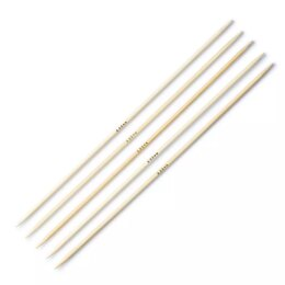 "Prym Bamboo Double Point Needles 15cm (6"") (Set of 5)"