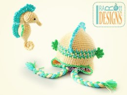 Sea Biscuit the Seahorse Hat and Amigurumi Toy Crochet PDF Pattern