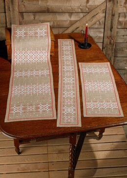 Permin Traditional Lines Tablerunner Cross Stitch Kit
