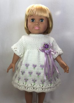 Choose-A-Skirt Easter Dresses, Knitting Patterns for 18 inch Dolls - Immediate Download - PDF - Fits American Girl Dolls
