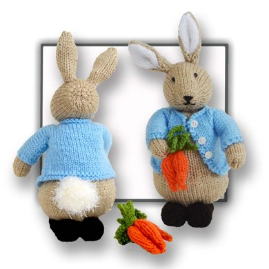 Knitting Pattern For Peter Rabbit Jumper : Peter Bunny Rabbit Toy Knitting pattern by T Bee Cosy