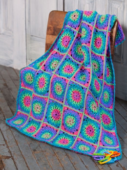 Lite 'n Bright Baby Blanket in Caron Simply Soft Brites - Downloadable PDF