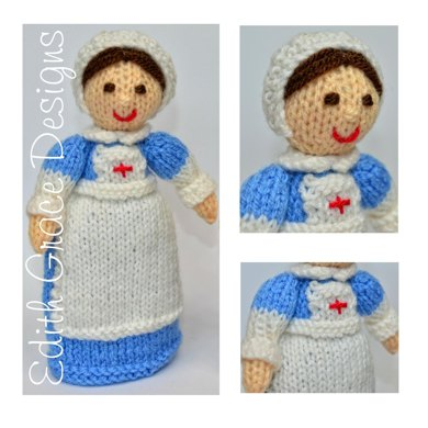 Ww1 Red Cross Nurse Doll Toy Knitting Pattern Knitting Pattern By