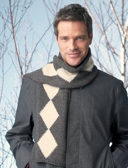 Diamond Scarf in Patons Classic Wool Worsted