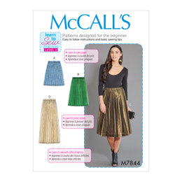 McCall's Misses' Skirts M7844 - Paper Pattern, Size S-M-L