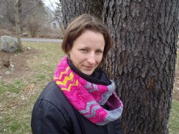 Chevron cowl or infinity scarf