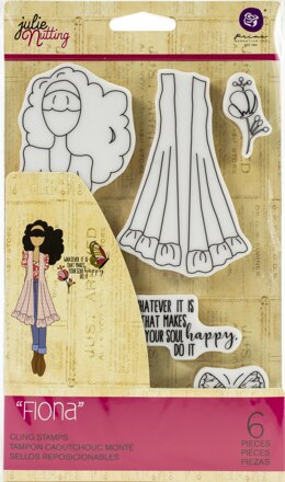 Prima Marketing Julie Nutting Mixed Media Cling Rubber Stamp - Fiona