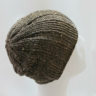 Loom Knit Rib Stitch Mens Hat