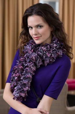 Into the Wild Scarf in Red Heart Soft Solids - LW4135