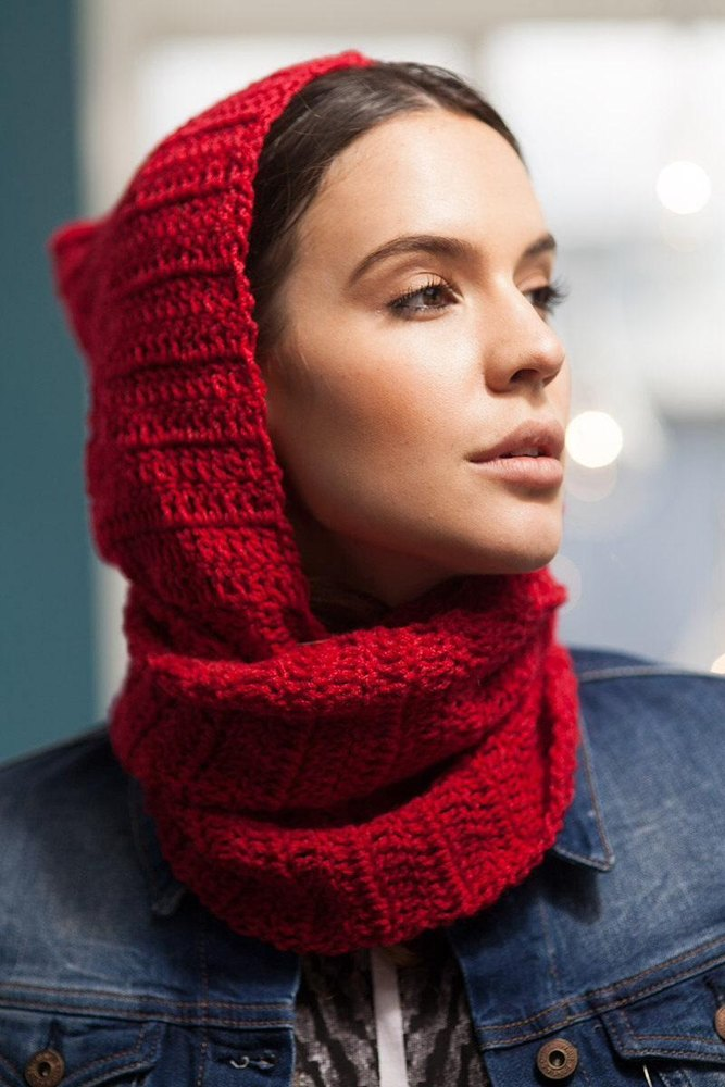 Red Scoodie Knitting Pattern By Tigstogs