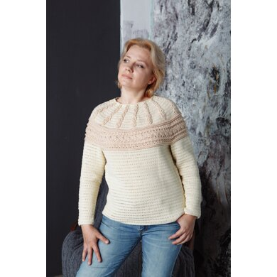 Cable yoke pullover
