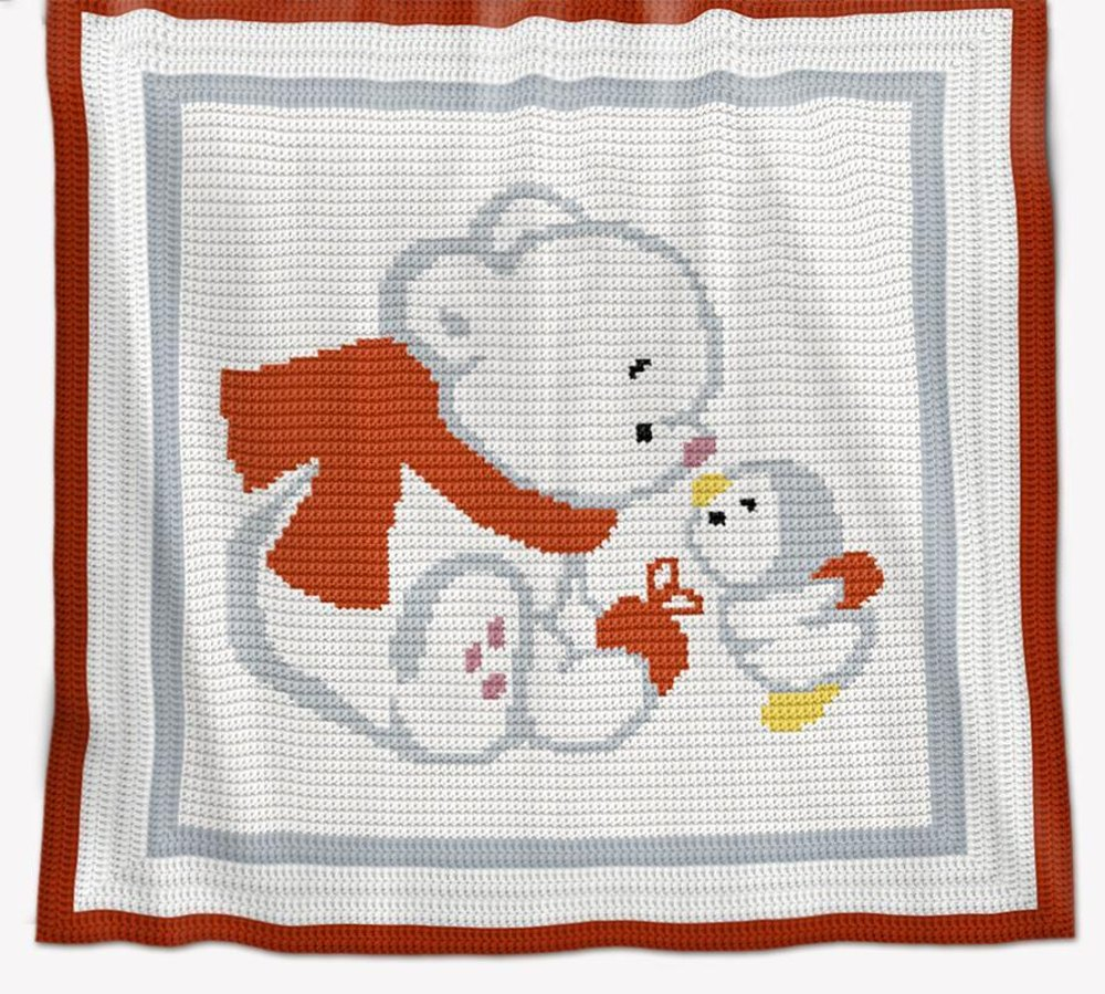 Crochet Baby Blanket Pattern Bear And Penguin Crochet Pattern