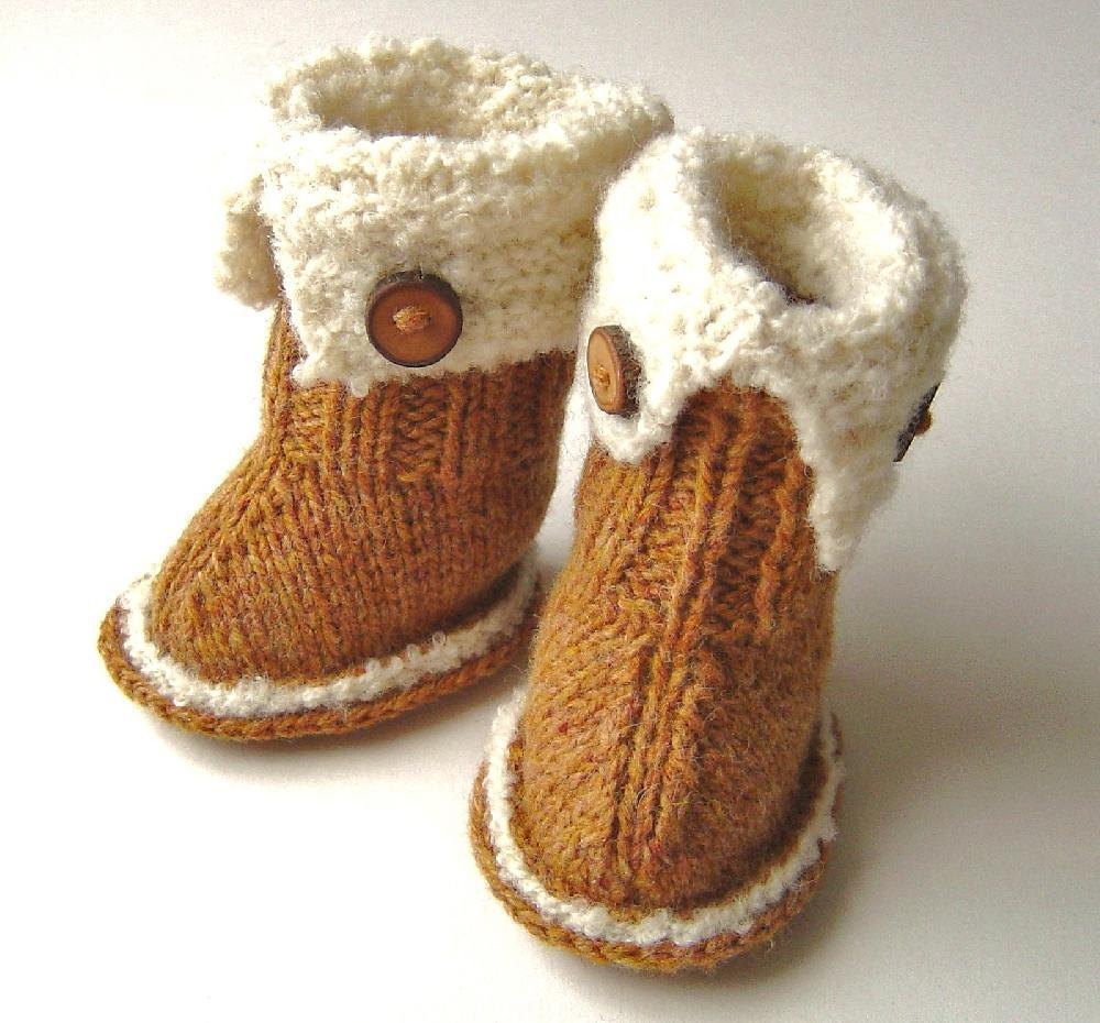 Baby Stovler Booties Knitting Pattern : Baby SnUGG Booties Knitting pattern by Caroline Brooke ...