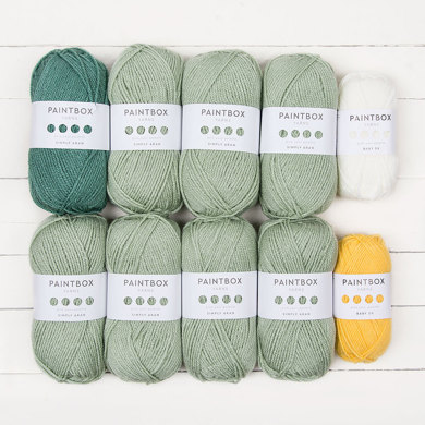 Paintbox Yarns 10 Ball Color Pack - Meadow Lap Blanket by Just Pootling for Breast Cancer Haven